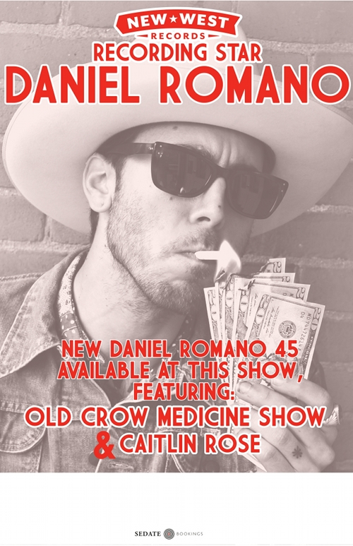 Daniel Romano is on a freighter ship now and starts European tour this week