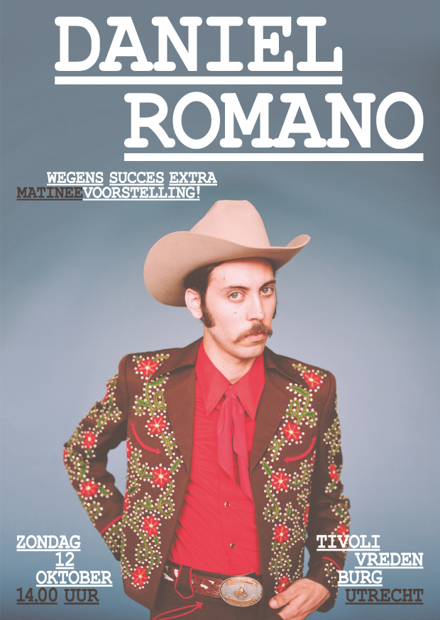 Daniel Romano adds EXTRA show at TivoliVredenburg on October 12th