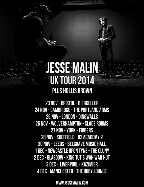 Hollis Brown joins Jesse Malin on UK tour in November/December