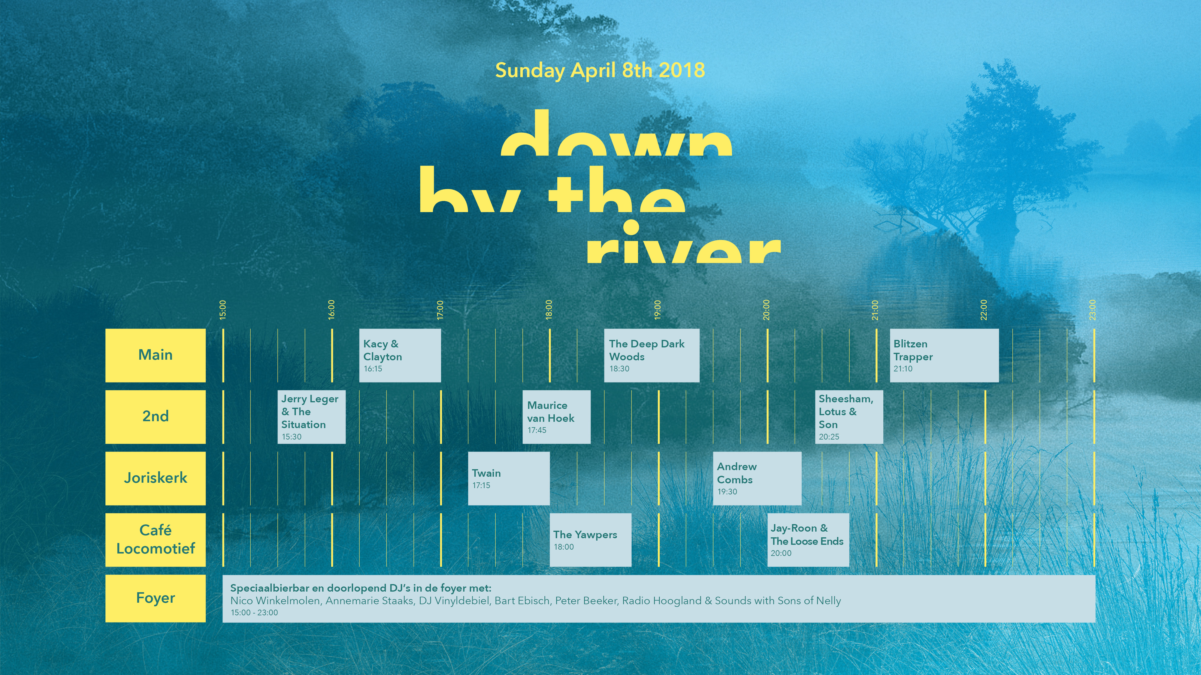 This Sunday: DOWN BY THE RIVER